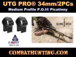 UTG PRO 34mm-2PCs Medium Profile P.O.I Picatinny Rings