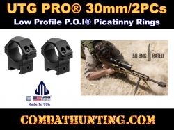 UTG PRO 30mm-2PCs Low Profile P.O.I Picatinny Rings