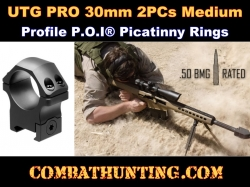 UTG PRO 30mm/2PCs Medium Profile P.O.I Picatinny Rings