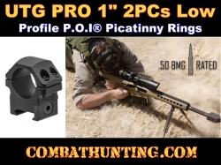 "UTG PRO 1"" 2PCs Low Profile P.O.I Picatinny Rings"
