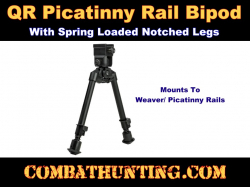 Bipod With Quick Release Weaver/Picatinny Mount