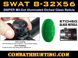 Leapers 8-32X56 36 Color IE Scope SWAT AO Sniper Mil-Dot