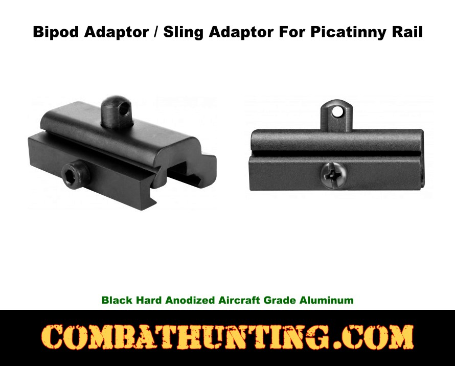 Bipod Adapter for Picatinny Rail style=